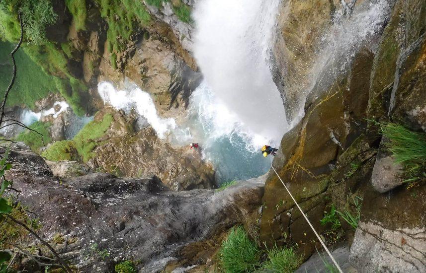 descente de la cascade de saugué