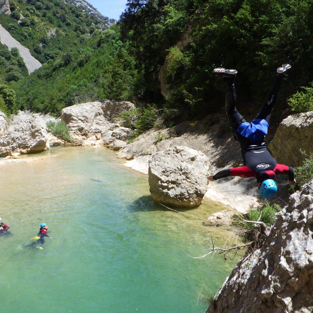 saut freestyle dans le canyon de gorgas negras