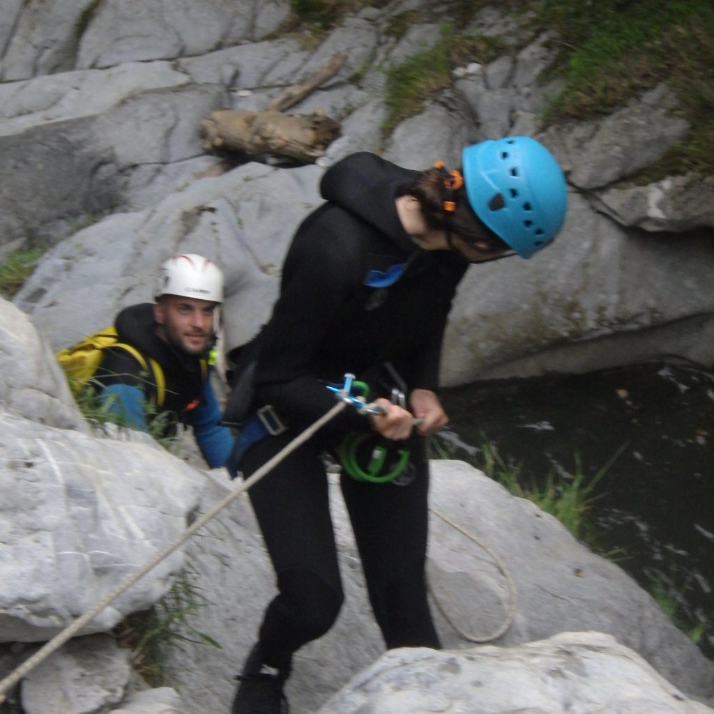 formation canyoning a la gestion du groupe en canyon
