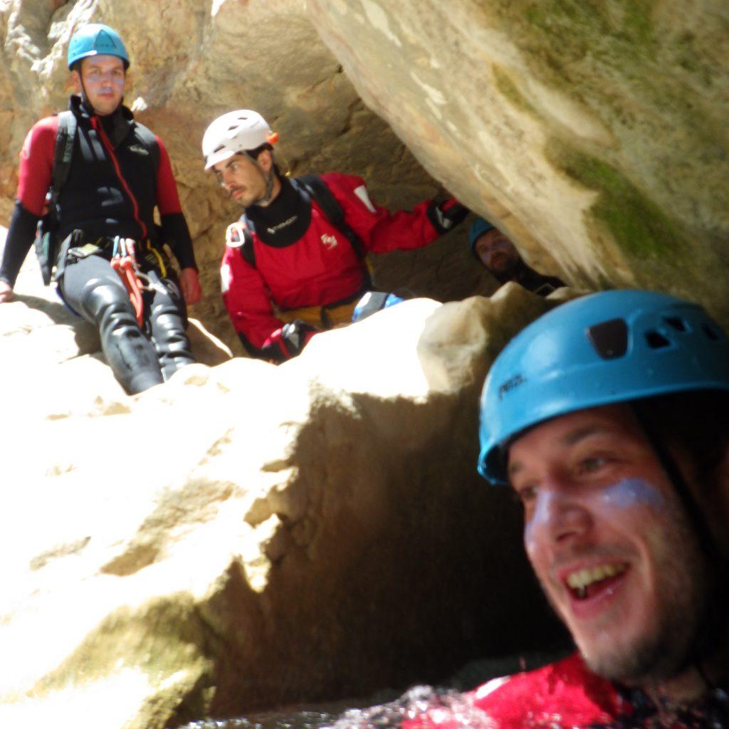passage de desescalade dans le canyon des gorgas negras