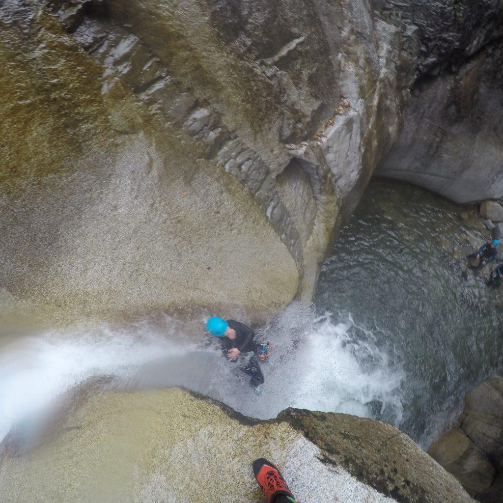 toboggan en canyon dans le canyon de soussoueou