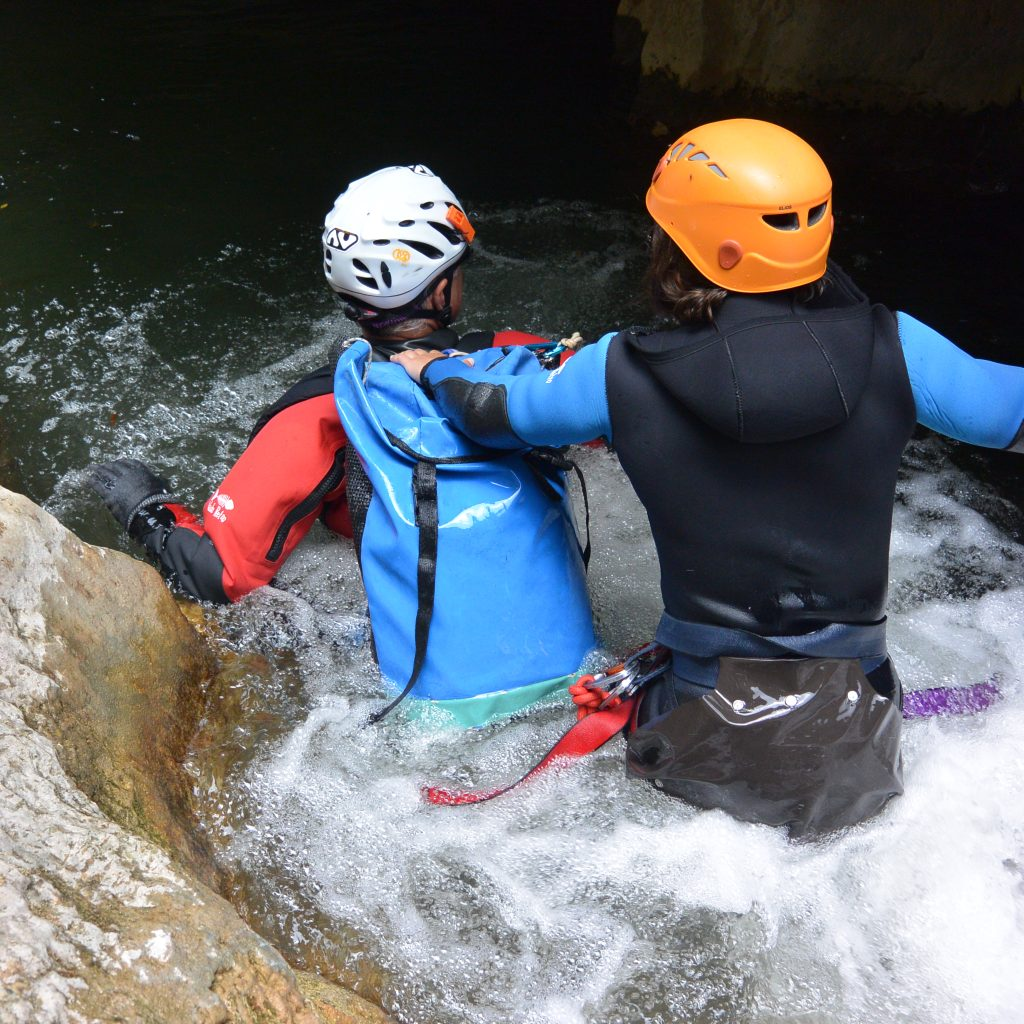 progression en canyon, canyoning handicapé déficient visuel