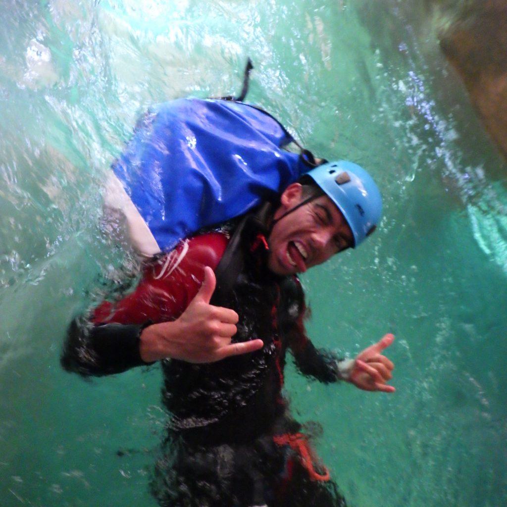 nage dans les bief de la peonera