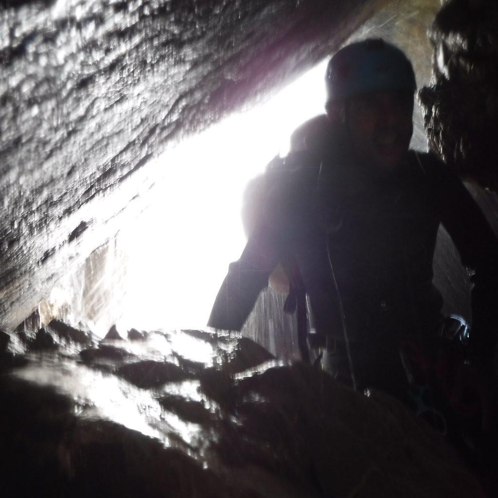 passages souterrains dans le canyon du canceigt