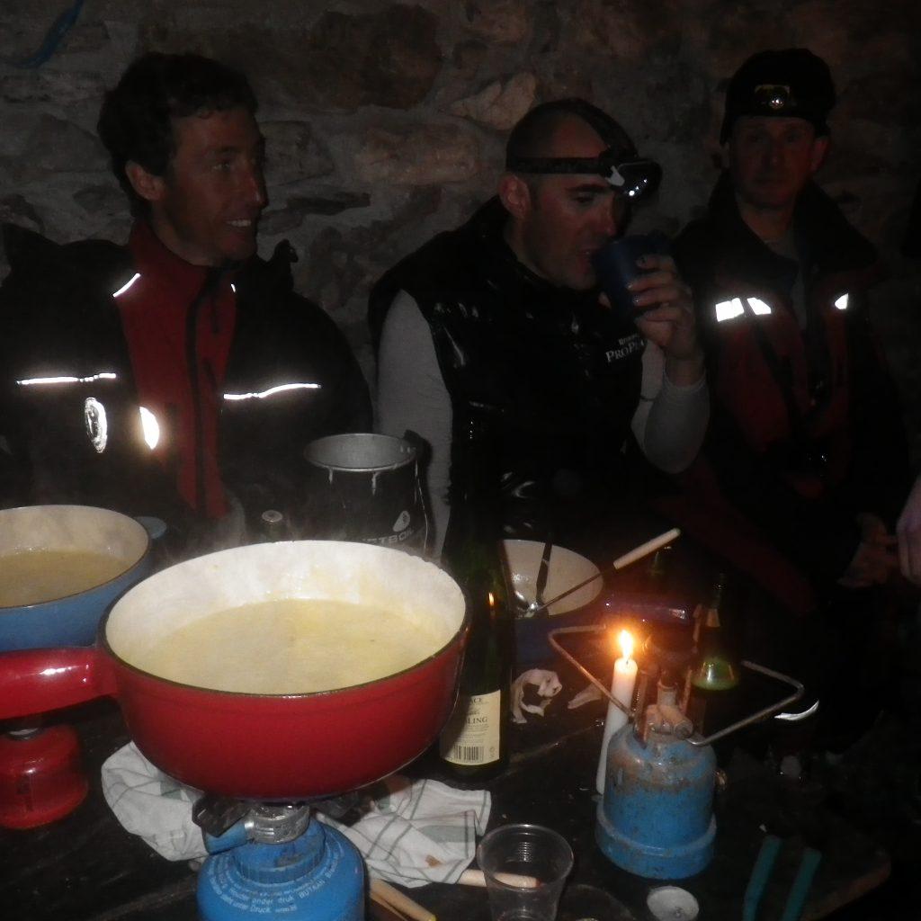 canyon bivouac repas du soir