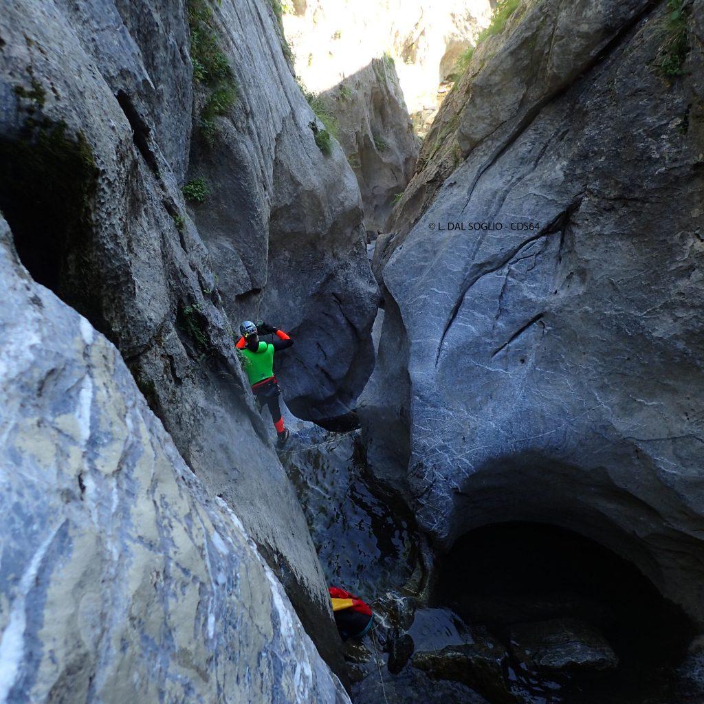 passage etroit dans le canyon du Yese