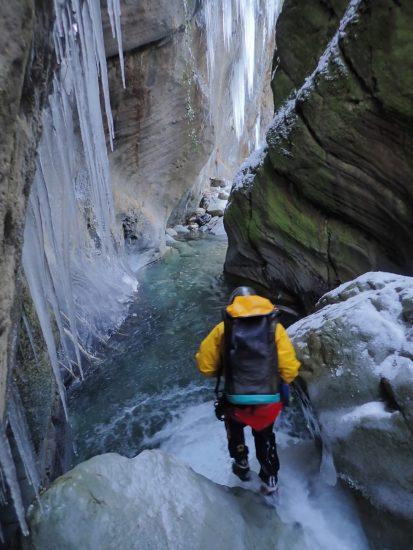 canyon du canceigt en hiver